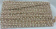 pearl sewn on copper zari, lace border trim Saree bridal 9 Mtr, 2cm wide