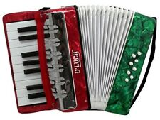D'Luca Kids Piano Accordion 17 Keys 8 Bass RWG Perloid