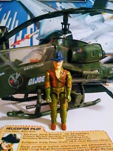 Gi Joe 1983 Dragonfly Helicopter Working VGC w/ Wild Bill🔥 Mint 🔥100% Complete