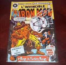 Editions Heritage Invincible Iron Man # 38 1976 French Edition Black White