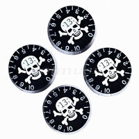 4 Pcs Skull Logo Speed Guitar Control Knob For Guitar Parts