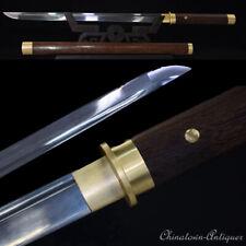 Chokutō Straight Sword Knife TangDao Folded steel Blade Battle ready Sharp #1344