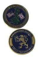 RAF Mildenhall United Kingdom 100th Maintenance Squadron Challenge Coin