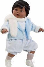 Berbesa - Dulzon negrito  bebé lloron con traje y bufanda, 62 cm (8035N1)