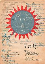 Kohl-hojas para kohlpartie en Oldenburg en 1955-Kaku, poemas-b2795