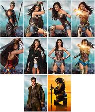 10pc Wonder Woman Movie 2017 Mirror Surface Card Sticker Promo Card Poster E588