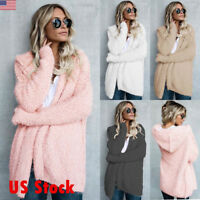 Fashion Womens Hooded Loose Slim Coat Thicken Jacket Warm Outwear Overcoat New