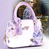 Women Designer PU Leather Briefcase Shoulder Bag Handbag Tote Work Front Pocket