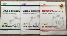 Grade 9-1 GCSE Biology, chemistry and physics : AQA 10-Minute Tests