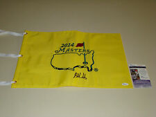Bubba Watson Hand Signed 2014 Masters Pin Flag JSA #L56257 Golf Autograph