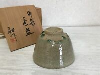 Y1564 CHAWAN Seto-ware signed box Japanese bowl pottery Japan tea ceremony