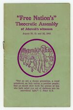 1943 Free Nations Theocratic Convention Program Watchtower Jehovah