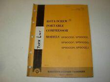 Gardner Denver SP90DD DE DF DG DH DJ Rota-Screw Air Compressor Parts Manual