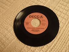 JIMMY DAMON  YOUNG HEARTS YOUNG HANDS/NOT THRU MISSING YOU DECCA 32412 PROMO M-