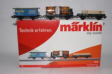MARKLIN HO SCALE #44140 FREIGHT CAR SET, STAUFEN BRAU, WURTTEMBERG