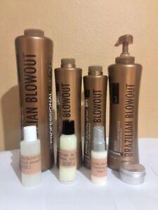 Brazilian Blowout solution kit 2oz,shampoo2oz,ionic bonding spray .5oz,mask .5oz