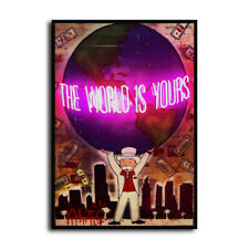 Alec Monopoly 'The world is yours' HD Canvas Print Home Decor Wall Art Pictures