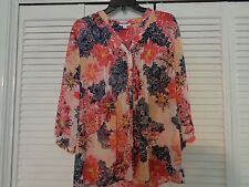 REDUCED! ladies M blouse by Charter Club/M/ floral, dress up/ dress down A+ con