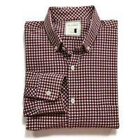 Billy Reid Slim Cut Shirt Men Size Large Red Blue Plaid Long Sleeve Button Down