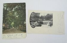 Lot of 2 Stamford, CT Postcards, 1901-1907, Clinton Ave. and Buttermilk Falls