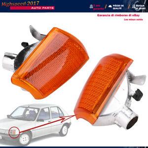 2 clignotants avant Droite + Gauche orange pour Peugeot 205 de 02/1983 A 06/1990