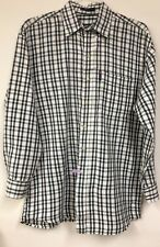 Man's Green And White Shirt Casual Size Medium By Ralph Lauren