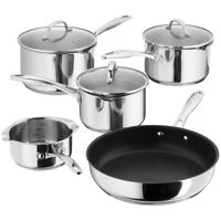 Stellar 7000 5 Piece Draining Induction Saucepan Set Lifetime Guarantee