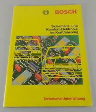 Schulungsunterlage Bosch Komfort Elektronik von 1983