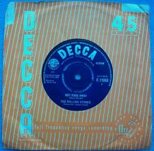 THE ROLLING STONES Not Fade Away / Little By Little UK DECCA 1st  NON BOXED BEAT