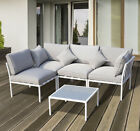 5pc Patio Garden Sofa Set Sectional Furniture Outdoor Couch W/ Cushion Lawn Grey