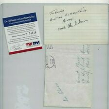Abe Gibron Autographed 3x5 Card PSA COA NFL Coach Chicago Bears Bucs Browns