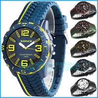 Analog men's XONIX wrist-watch, 2x backlight, silicone strap, waterproof 100m