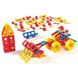 MOBILO Plastic Building Toy, Classic Construction Kit — GERMAN — Large 120pc Set
