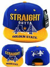 Golden State New Leader Straight Outta Warriors Blue Gold Era Snapback Hat Cap