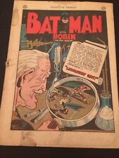 "Detective Comics #89 coverless complete ""Laboratory Loot"" Batman etc."