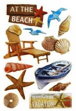 Handmade Glitter Sticker Scrapbooking Tropical Vacation Beach Theme Sea shell