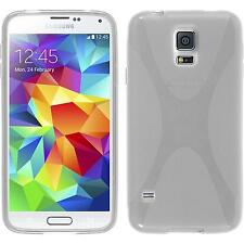 Silicone Case for Samsung Galaxy S5 Neo X-Style transparent + protective foils