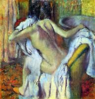 After Bathing #4 by Edgar Degas Giclee Fine Art Print Repro on Canvas