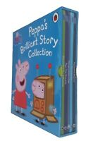 Peppa Pig 5 Book Box Set Fun Toddler Learning Story Nursery Kids Boy Girl New