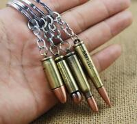Boy Long Rifle Bronze Gun Bullet Keyring Novelty Keychain Gentle Men's Gift #043