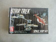 STAR TREK U.S.S. ENTERPRISE SPACE SHIP SET THREE SHIP MODEL KIT 1989 ERTL