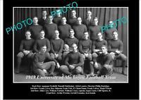 OLD LARGE HISTORIC PHOTO OF UNIVERSITY OF MICHIGAN FOOTBALL TEAM 1919