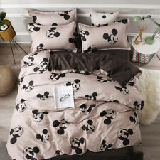 Disney Cartoon Funny Mickey Mouse Duvet Cover Bed Sheet Pillowcases Bedding Sets
