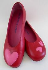 Agatha Ruiz de la Prada Red Leather Heart Flats Sz 38/8