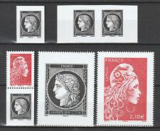 France 2019 - Cérès 7 timbres issus de carnet  - 5359 - 5360 - 5361 - neuf**