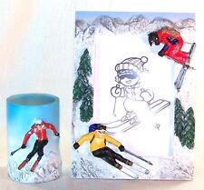Cadre photo et pot à crayon ski Alpin