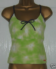 Lime Green/Purple Strappy Sun Top Stetchy Size L Large Venice Beach Activewear
