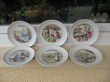 6 ASSIETTES à FROMAGE Porcelaine PILLIWUYT  19,7 cm