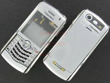 New Un-Branded No-Logo RIM BlackBerry 8110 8120 Pearl Full Housing Case silver