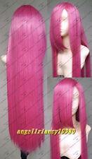 COS Rosario Vampire cosplay wig long 100cm wig straight Wigs+ hairnet